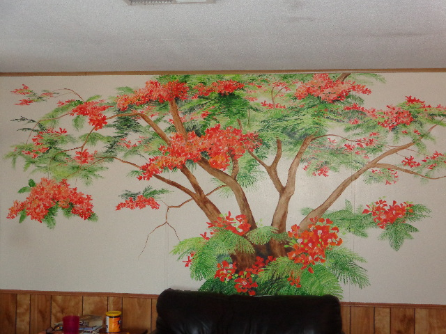 Family Tree Mural in livingroom